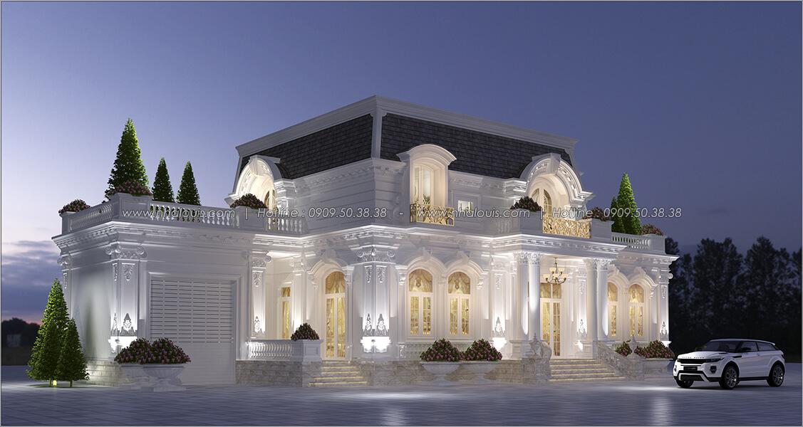 Mặt tiền Thiết kế biệt thự 2 tầng kiểu Pháp đẹp sang trọng tại Bình Dương - 2
