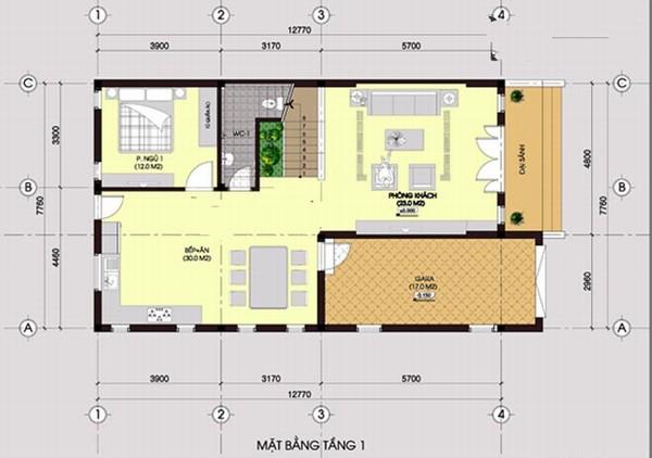 Thiết kế biệt thự hiện đại 2 tầng xanh thoáng