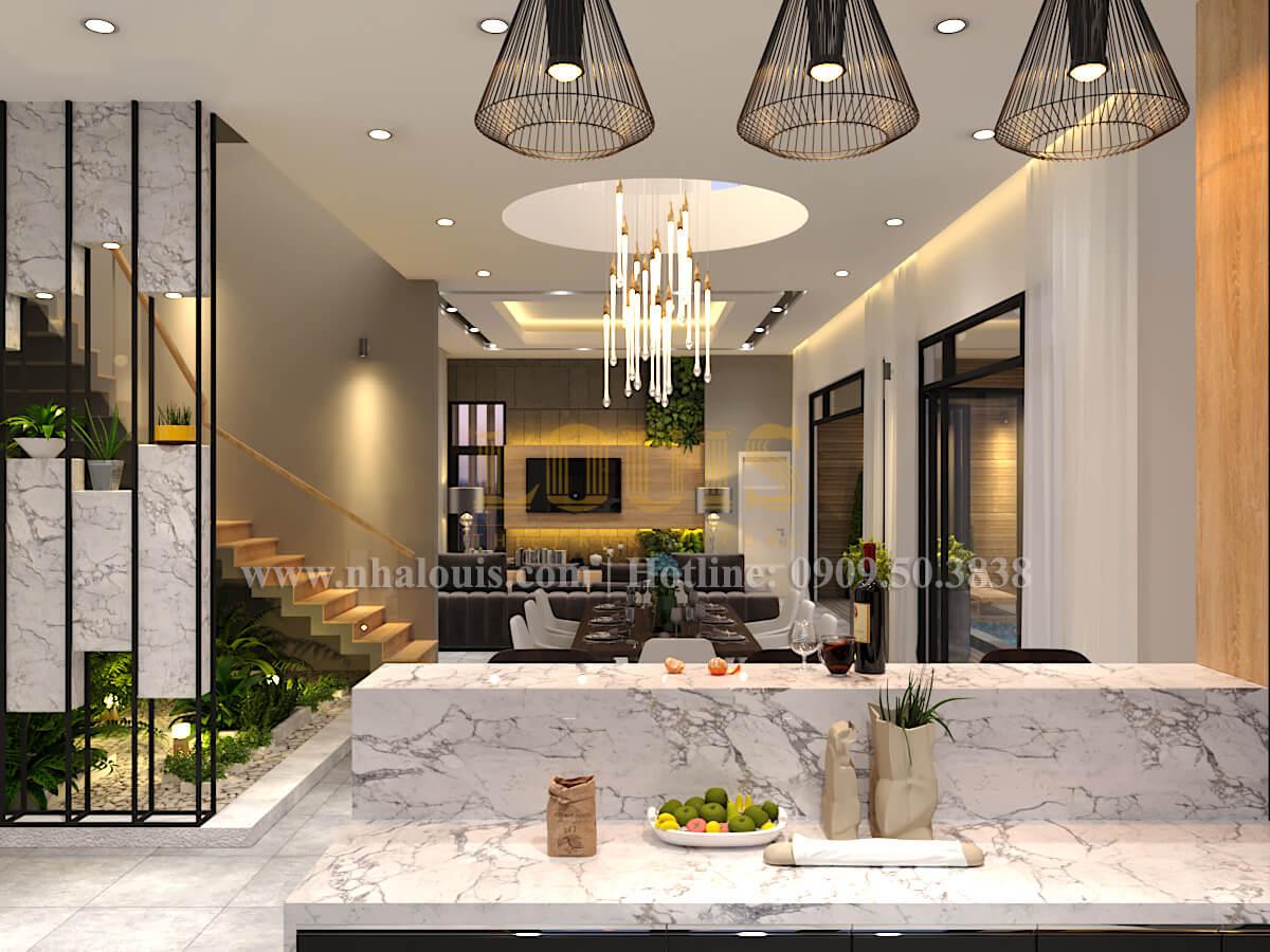 Phòng bếp Thiết kế biệt thự hiện đại 2 tầng đẹp phong cách mới 2017 tại Cần Thơ