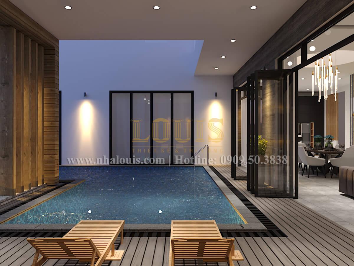 Hồ bơi Thiết kế biệt thự hiện đại 2 tầng đẹp phong cách mới 2017 tại Cần Thơ