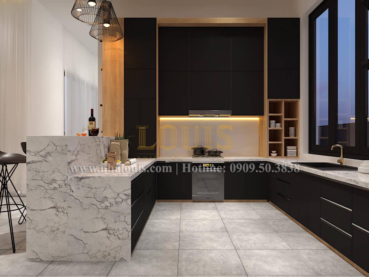 Phòng bếp biệt thự hiện đại 2 tầng đẹp phong cách mới 2017 tại Cần Thơ