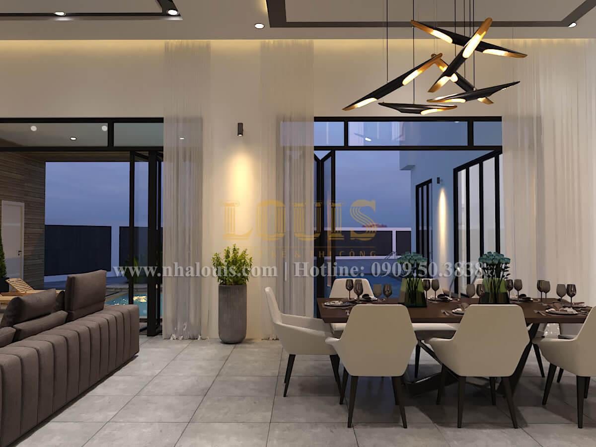 Phòng ăn Thiết kế biệt thự hiện đại 2 tầng đẹp phong cách mới 2017 tại Cần Thơ
