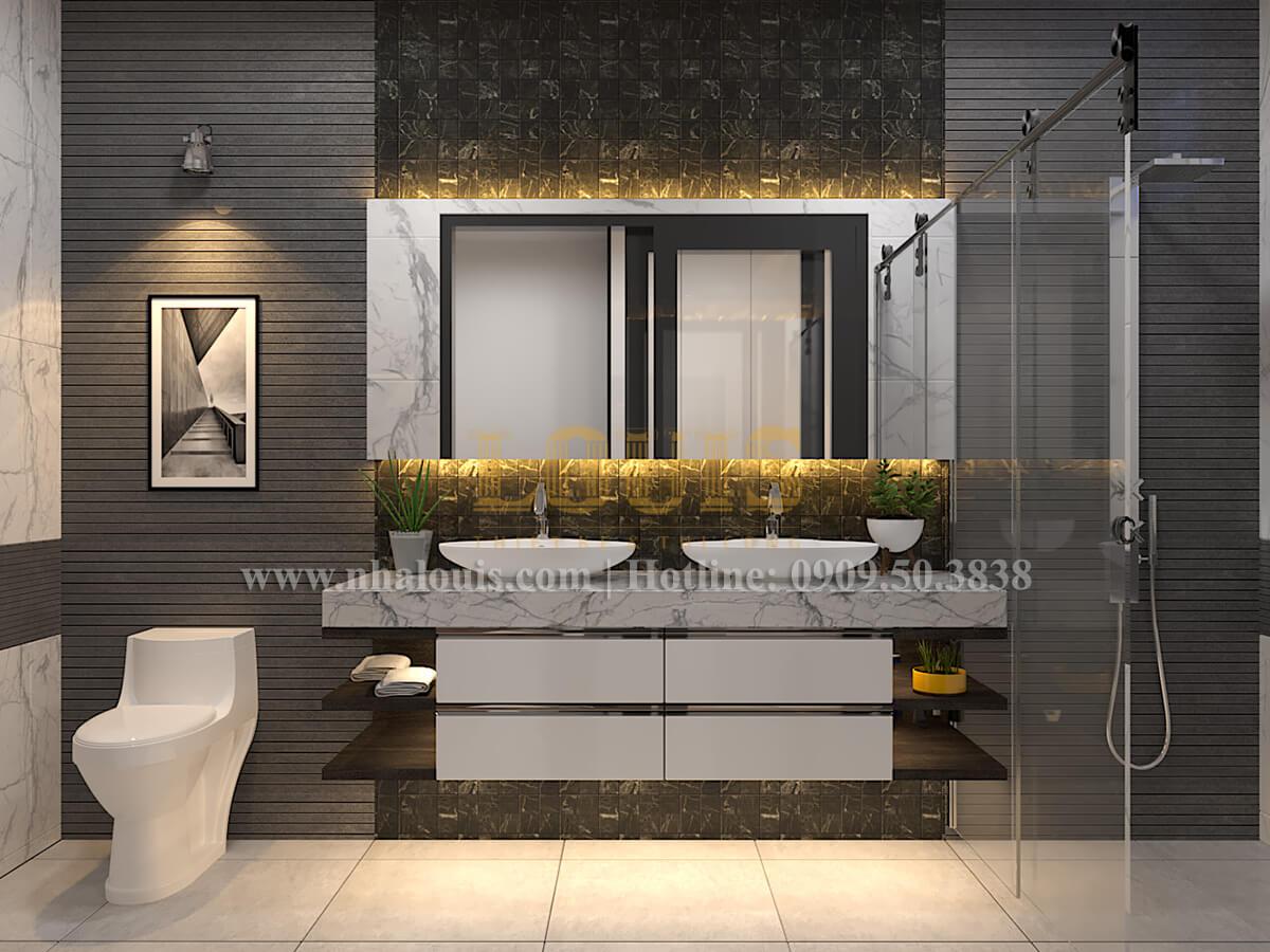 Phòng tắm và WC Thiết kế biệt thự hiện đại 2 tầng đẹp phong cách mới 2017 tại Cần Thơ