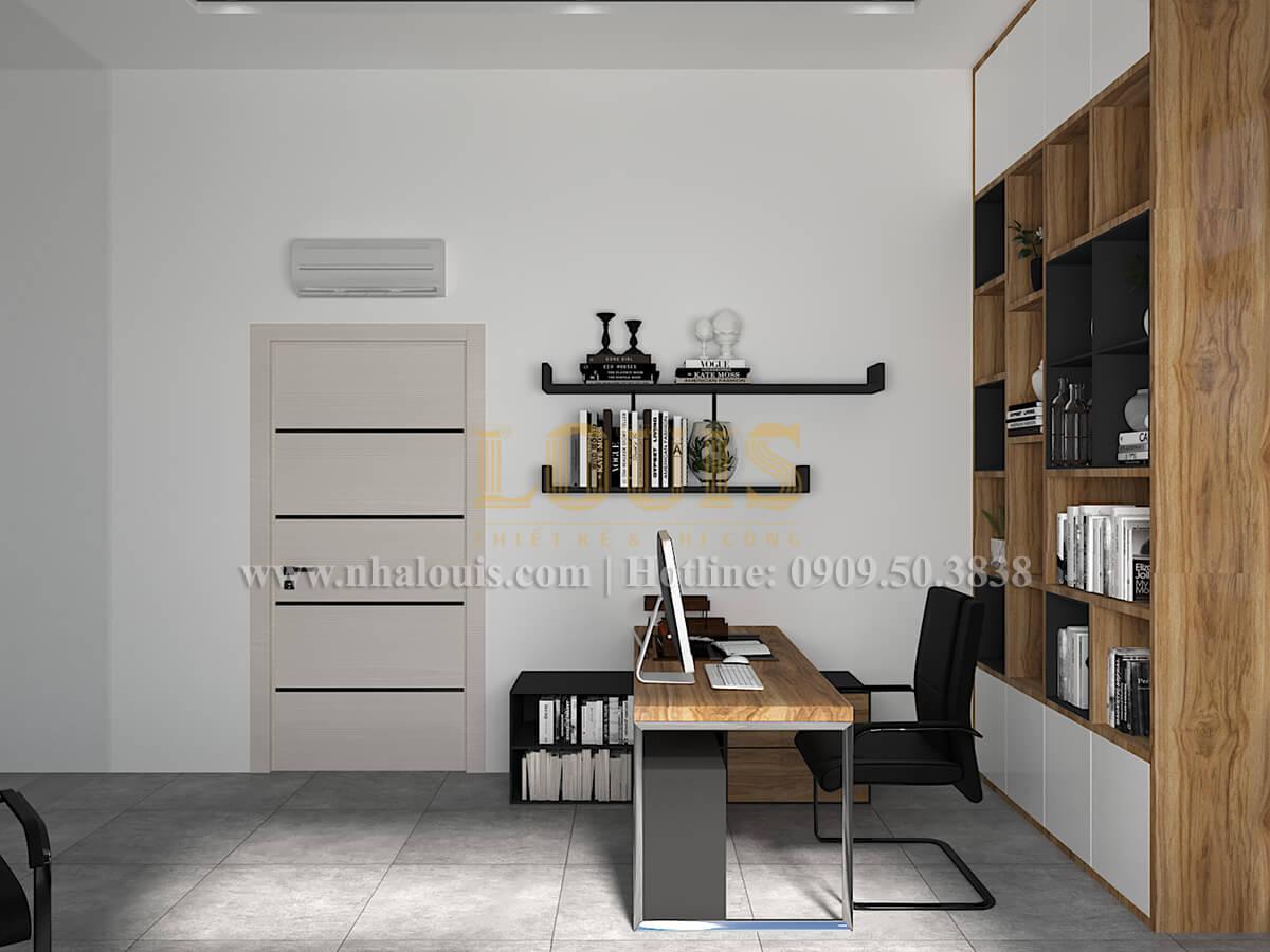 Phòng làm việc Thiết kế biệt thự hiện đại 2 tầng đẹp phong cách mới 2017 tại Cần Thơ