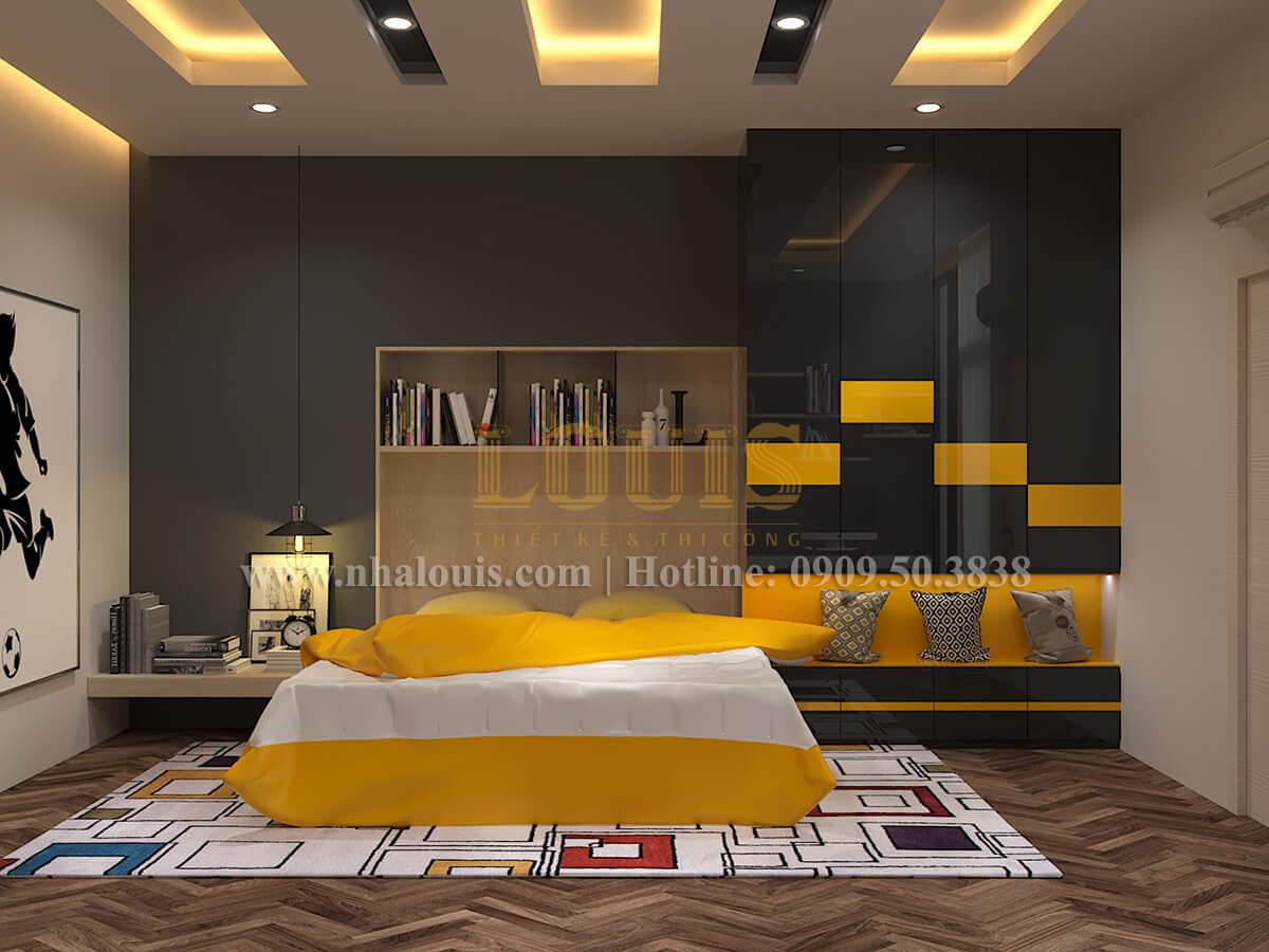Phòng ngủ Thiết kế biệt thự hiện đại 2 tầng đẹp phong cách mới 2017 tại Cần Thơ