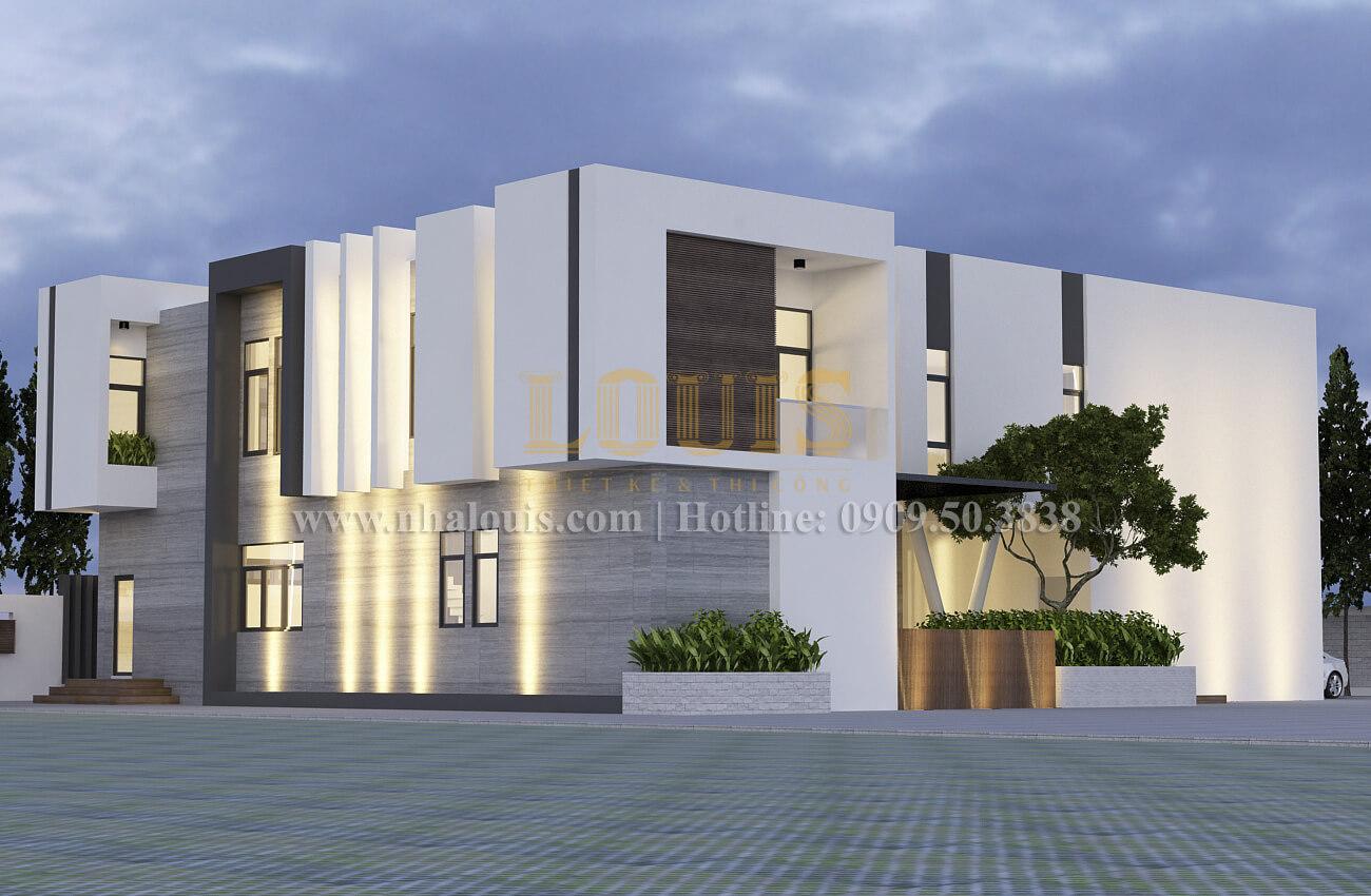 Mặt tiền Thiết kế biệt thự hiện đại 2 tầng đẹp phong cách mới 2017 tại Cần Thơ