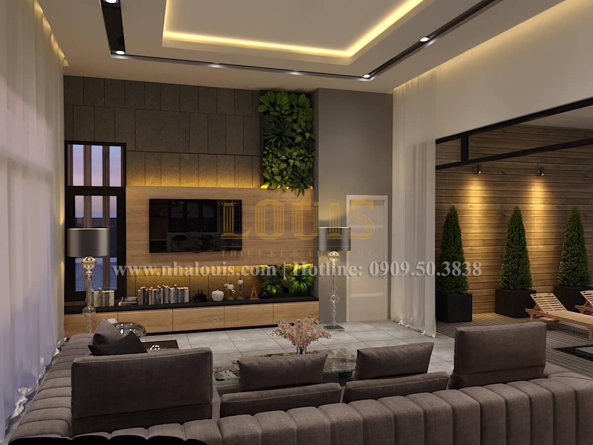 Phòng khách Thiết kế biệt thự hiện đại 2 tầng đẹp phong cách mới 2017 tại Cần Thơ
