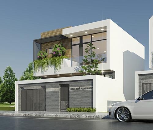 Thiết kế biệt thự mini 2 tầng hiện đại tại Bình Dương