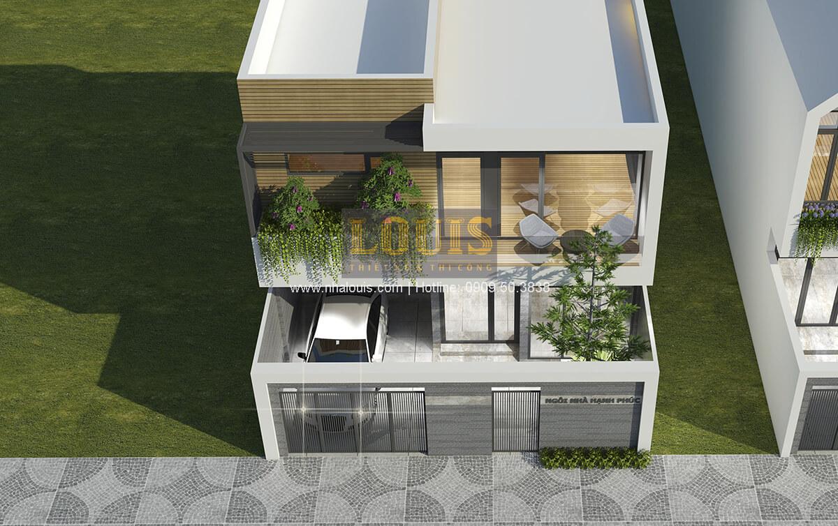 Mặt tiền Thiết kế biệt thự mini 2 tầng hiện đại tại Bình Dương