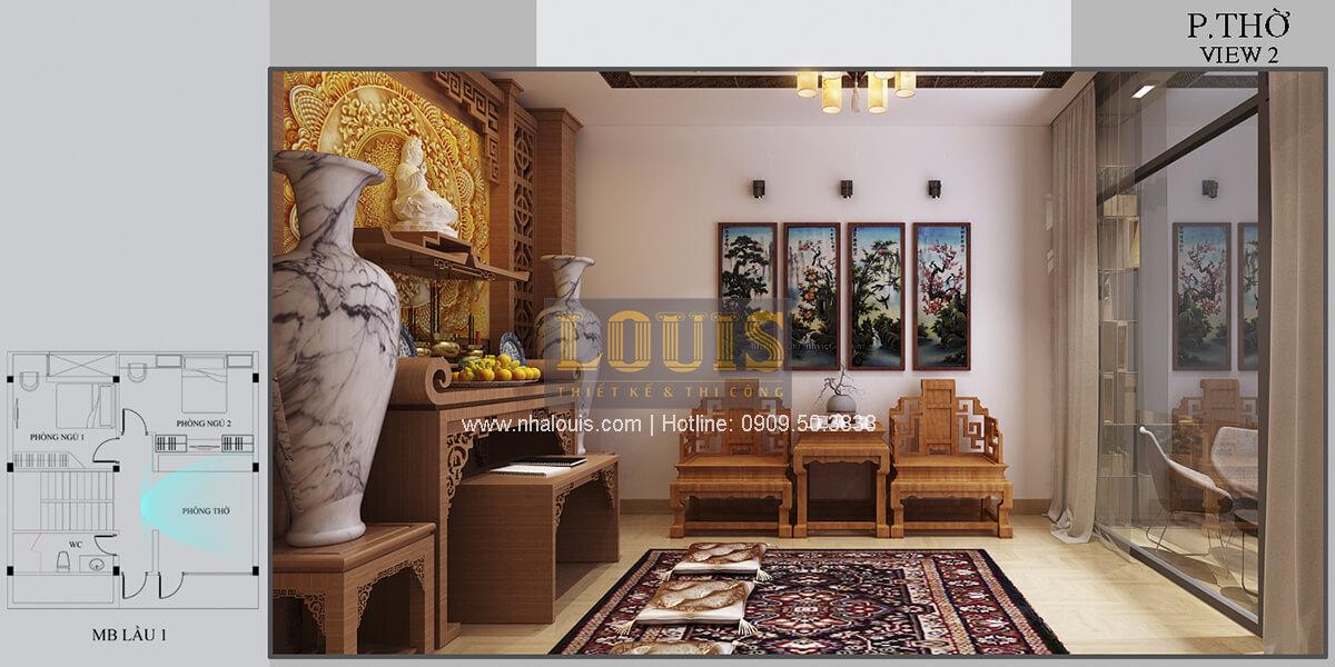 Phòng thờ Thiết kế biệt thự mini 2 tầng hiện đại tại Bình Dương