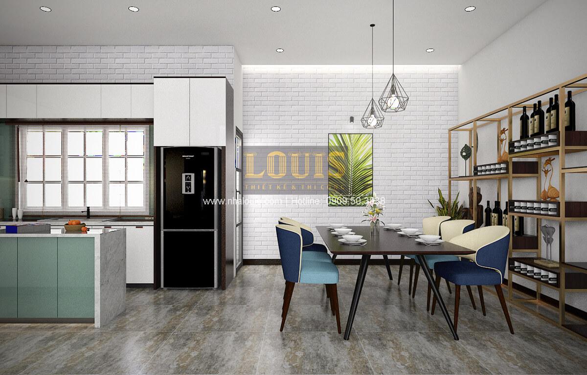 Bếp và phòng ăn Thiết kế biệt thự mini 2 tầng hiện đại tại Bình Dương