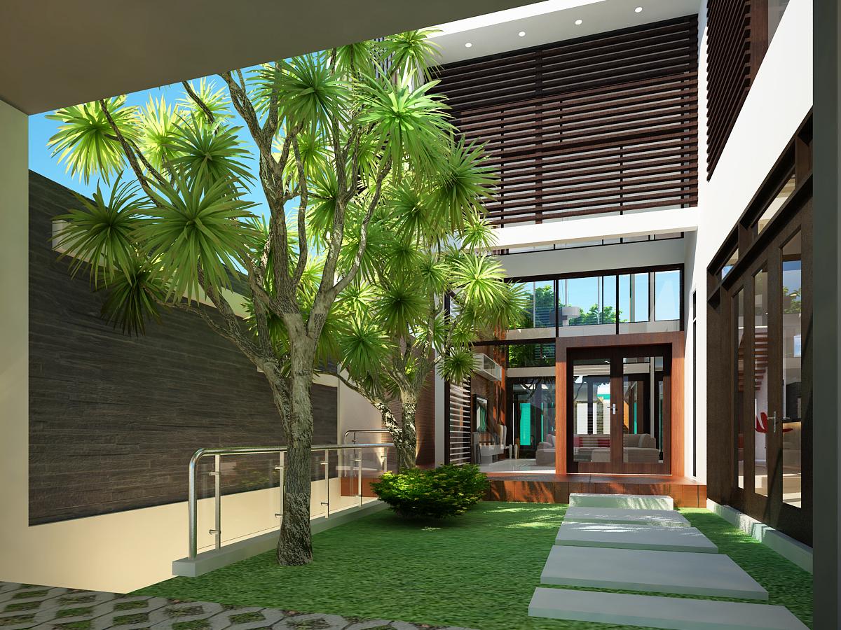Thiết kế biệt thự nhà vườn thân thiện với môi trường