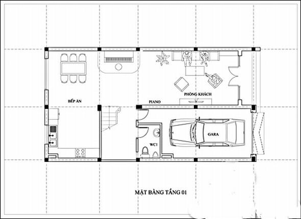 Thiết kế biệt thự tân cổ điển mini 3 tầng xinh xắn