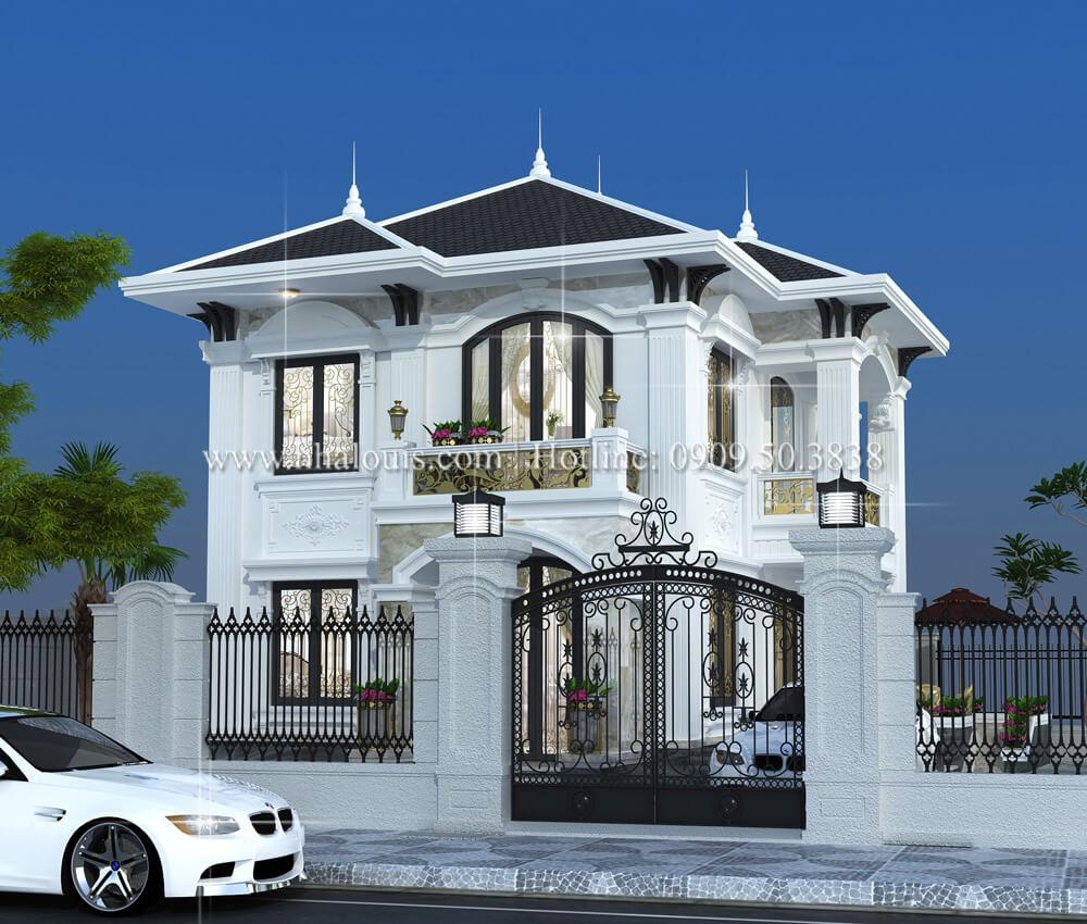 Thiết kế biệt thự phong cách tân cổ điển điển ở Tây Ninh đậm chất quý tộc