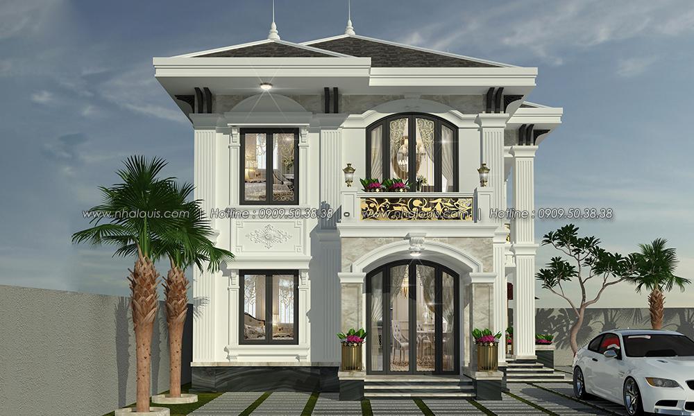 Mặt tiền Thiết kế biệt thự tân cổ điển ở Tây Ninh đậm chất quý tộc - 05