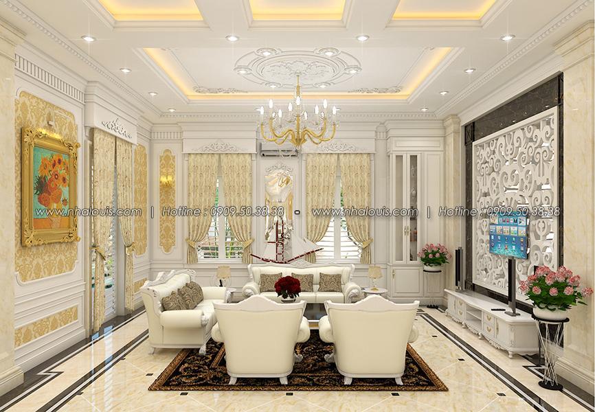 Phòng khách Thiết kế biệt thự tân cổ điển ở Tây Ninh đậm chất quý tộc - 06