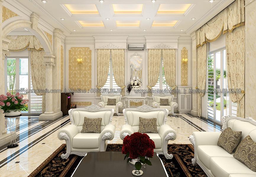 Phòng khách Thiết kế biệt thự tân cổ điển ở Tây Ninh đậm chất quý tộc - 07