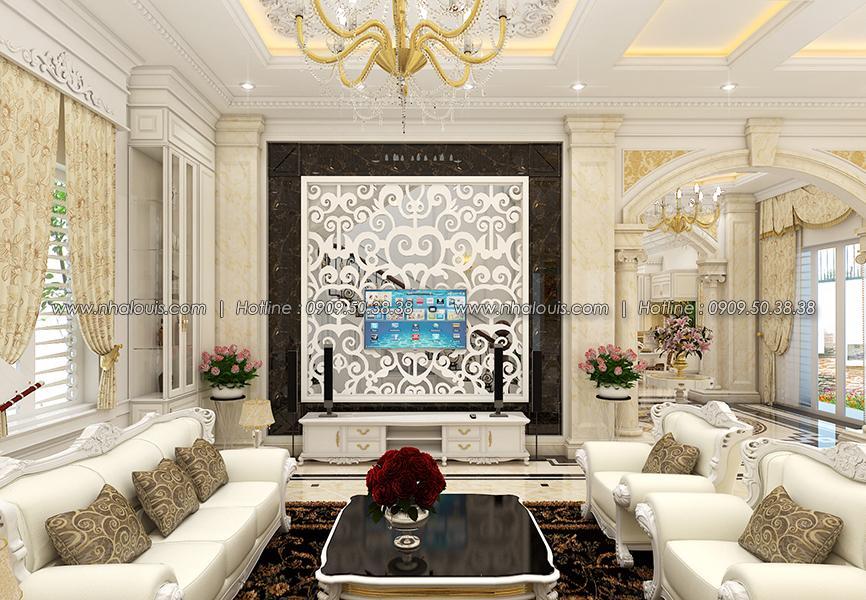 Phòng khách Thiết kế biệt thự tân cổ điển ở Tây Ninh đậm chất quý tộc - 08