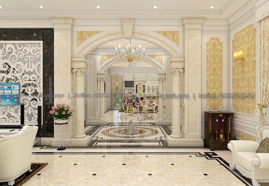 Phòng khách Thiết kế biệt thự tân cổ điển ở Tây Ninh đậm chất quý tộc - 09