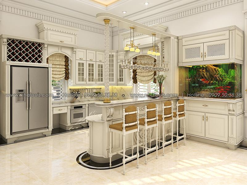 Phòng bếp kết hợp quầy bar Thiết kế biệt thự tân cổ điển ở Tây Ninh đậm chất quý tộc - 10