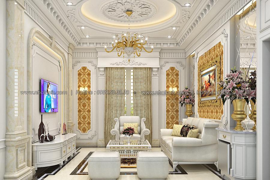 Phòng sinh hoạt chung Thiết kế biệt thự tân cổ điển ở Tây Ninh đậm chất quý tộc - 12
