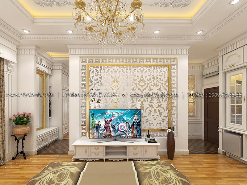 Phòng ngủ master Thiết kế biệt thự tân cổ điển ở Tây Ninh đậm chất quý tộc - 15