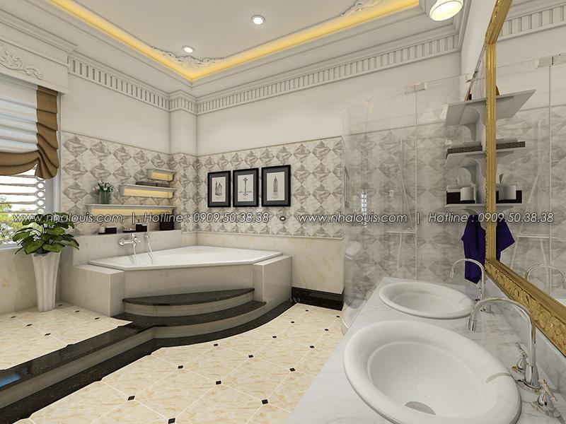 Phòng tắm Thiết kế biệt thự tân cổ điển ở Tây Ninh đậm chất quý tộc - 17