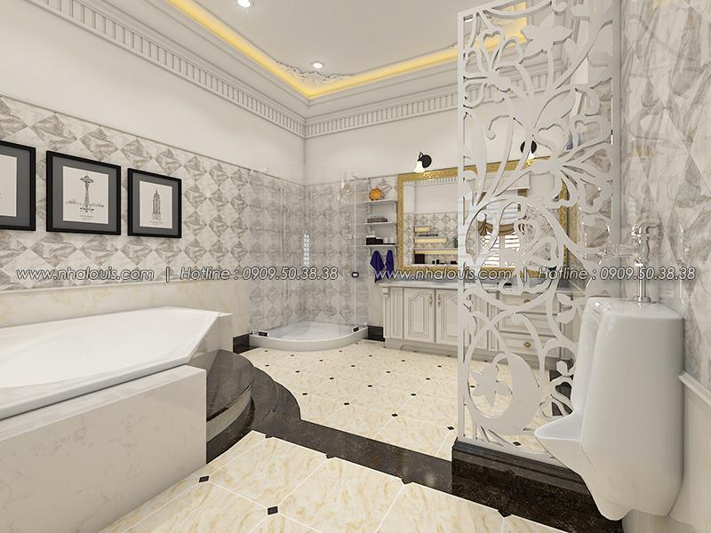 Phòng tắm Thiết kế biệt thự tân cổ điển ở Tây Ninh đậm chất quý tộc - 18