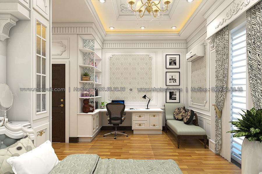 Phòng ngủ Thiết kế biệt thự tân cổ điển ở Tây Ninh đậm chất quý tộc - 22