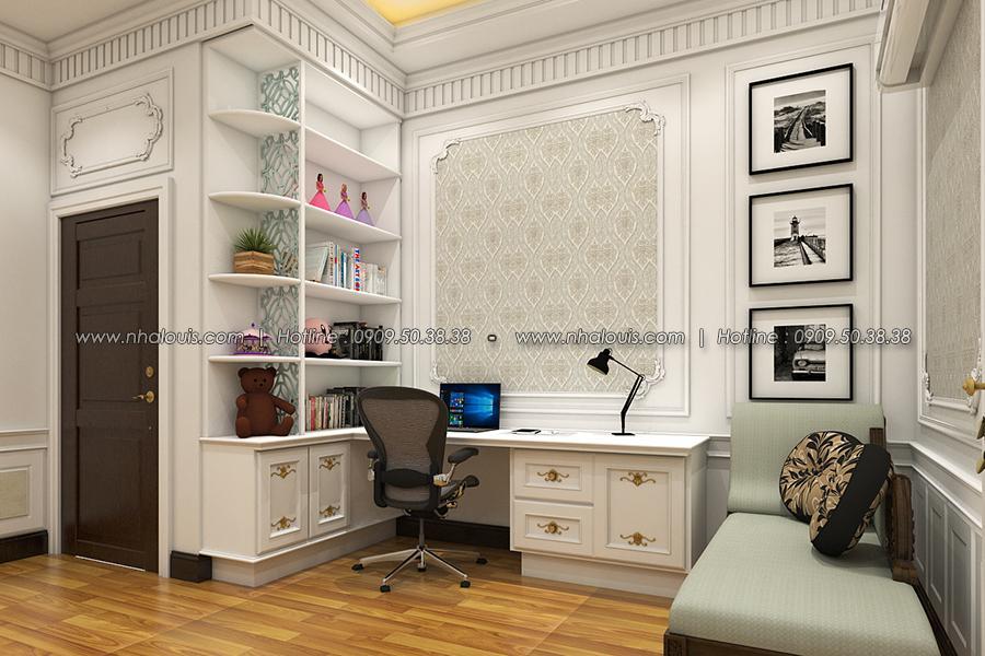 Phòng ngủ Thiết kế biệt thự tân cổ điển ở Tây Ninh đậm chất quý tộc - 23