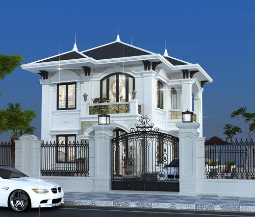 Thiết kế biệt thự tân cổ điển ở Tây Ninh đậm chất quý tộc