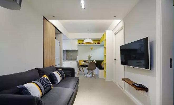 Thiết kế căn hộ chỉ 48 m2 nhưng vẫn thoải mái cho gia đình 4 người