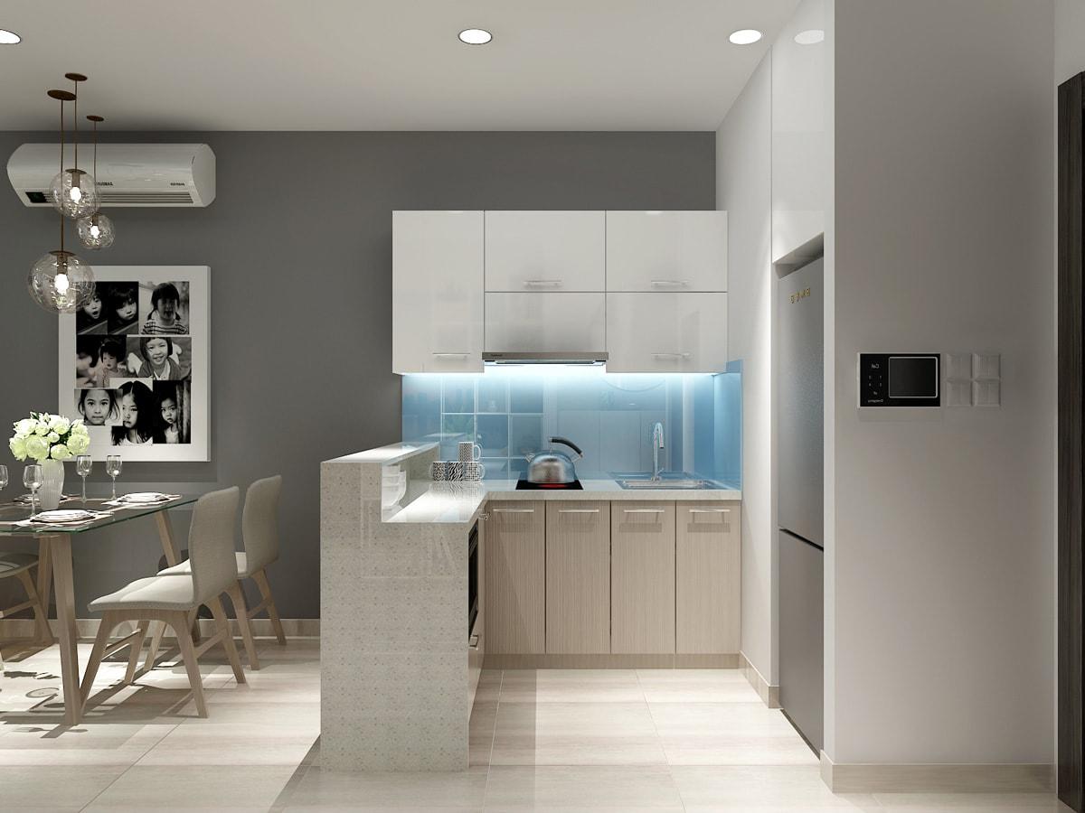 Thiết kế căn hộ chung cư 1 phòng ngủ có ban công cho vợ chồng trẻ