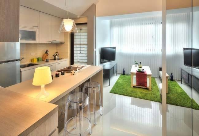 Thiết kế căn hộ chung cư 1 phòng ngủ nhỏ nhưng không hề bất tiện