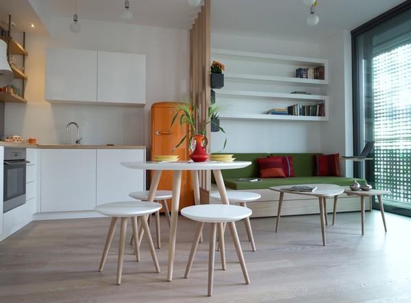 Thiết kế căn hộ chung cư 30m2 có ban công đẹp cho vợ chồng trẻ