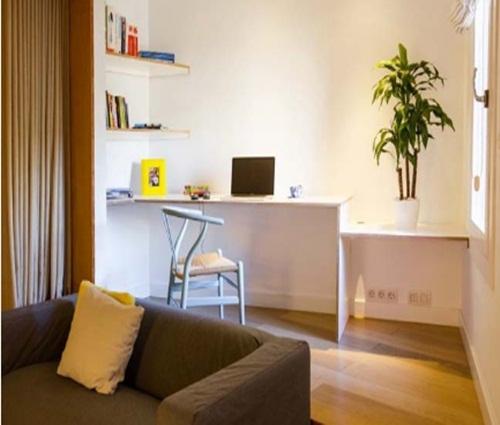 Thiết kế căn hộ chung cư 48m2 không hề chật chội