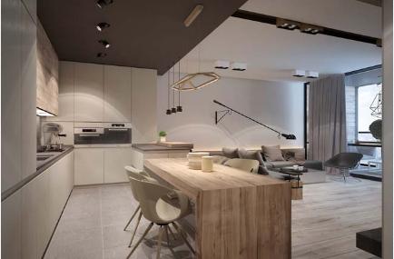 Thiết kế căn hộ chung cư mang màu sắc trung tính cuốn hút