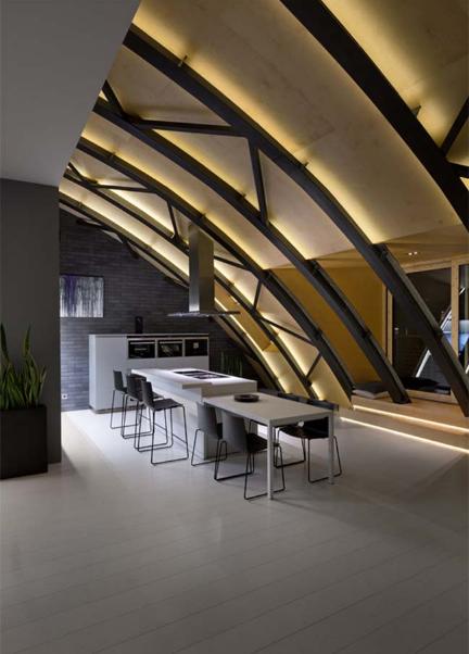 Thiết kế căn hộ chung cư với mái vòm siêu độc lạ