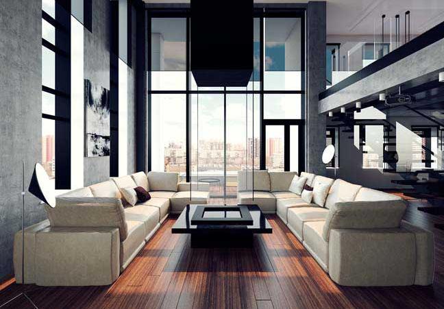 Thiết kế căn hộ penthouse cho quý ông độc thân