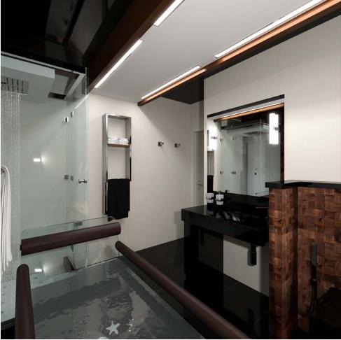 Thiết kế đương đại sang trọng của căn hộ penthouse