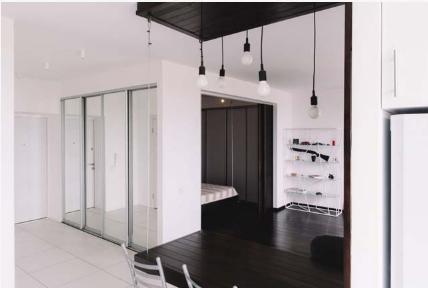 Thiết kế hoàn hảo cho căn hộ chung cư 1 phòng ngủ