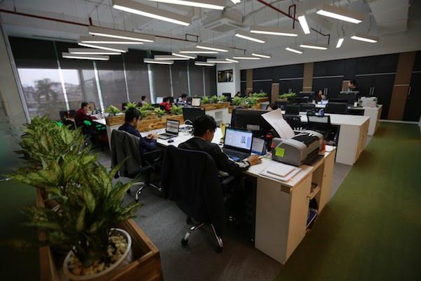 Thiết kế không gian xanh cho văn phòng làm việc thêm tươi mát - 01