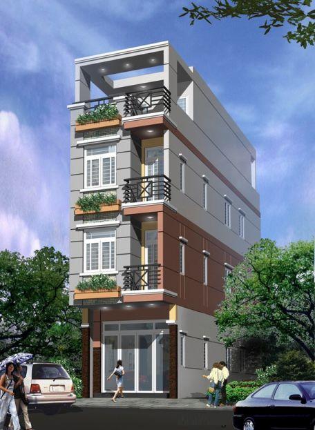 Thiết kế mẫu nhà phố nhà ống đẹp 50m2 - 01