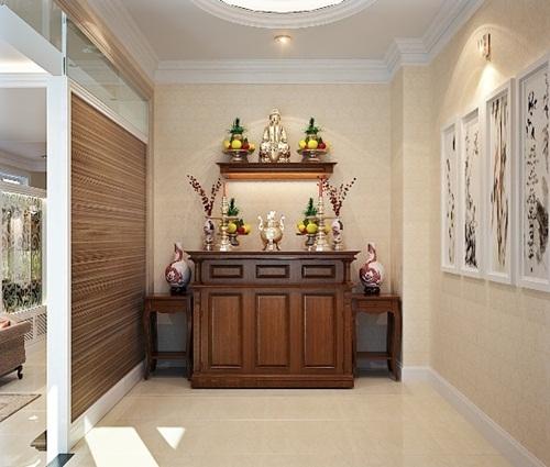 Thiết kế mẫu phòng thờ đẹp cho nhà chung cư
