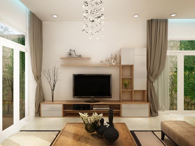 Thiết kế ngôi nhà trệt nhiều cây xanh tươi mát cho cả gia đình - 02