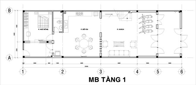 Thiết kế nhà 2 tầng 120m2 cho đại gia đình 2 thế hệ - 01