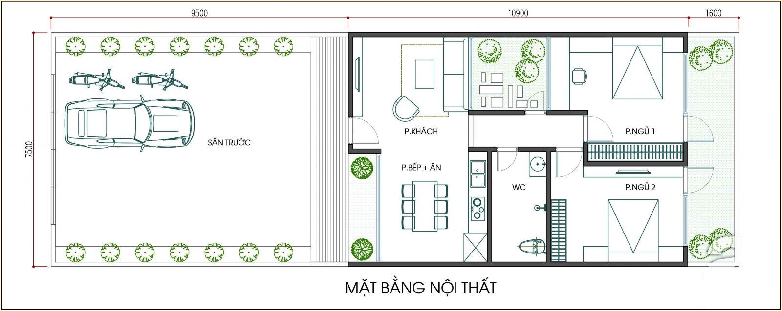 Thiết kế nhà cấp 4 nhỏ gọn, tiết kiệm chi phí