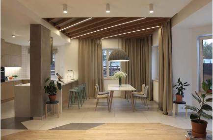 Thiết kế nhà 2 tầng tông màu tự nhiên đẹp trang nhã và sang trọng - 01