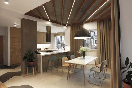 Thiết kế nhà 2 tầng tông màu tự nhiên đẹp trang nhã và sang trọng - 03