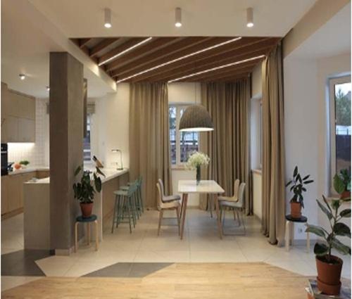 Thiết kế nhà 2 tầng tông màu tự nhiên đẹp trang nhã và sang trọng